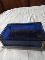 Kék plexit doboz