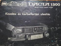 Retró Dacia 1300-as szervíz autó könyv