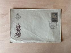 1955 Alumínium bélyeg - elsőnapi borítékon, FDC - 1