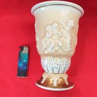 Német Plaue Von Schierholz Porcelán Váza 16 cm