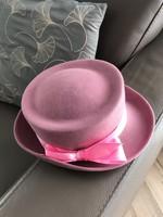 Rózsaszín elegáns kalap