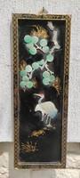 Régi Keleti falikép,féldràga kő berakàsokkal különleges ritkaság gyüjtemény darab.Kína, Japán,Korea
