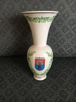 Bodrogkeresztúri  (Szatmári) kerámia váza, Szerencs címerével