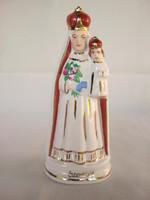 Jelzett porcelán Szentkúti Szűz Mária szobor
