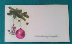Régi karácsonyi üdvözlőkártya,minikártya
