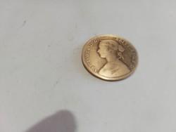 Angol Fél pennis 1860 bol eladó  10000ft-ért