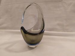 1,-Ft Extra dizájn és színekben játszó Bohémia üveg váza