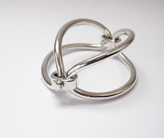 Hans Hansen ezüst karperec, rendkívüli design ékszer!