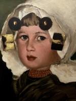 Boemm Ritta, Lány német alföldi viseletben