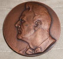 Orosz Saljapin plakett zene numizmatika gyűjtői darab