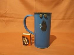 5 dl-es kék zománcos hitelesített mérőedény, zománcozott mérőpohár-Kőbánya