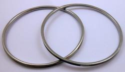 2 db gyöngyház berakásos fém karkötő