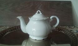 Zsolnay fehér barokk kávés kanna