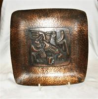 Reteo-KÁKONYI- jelzéssel  bronz falídísz