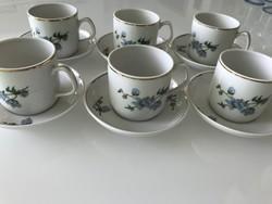 Hollóházi porcelán kávés készlet cseresznyeviràg mintàval