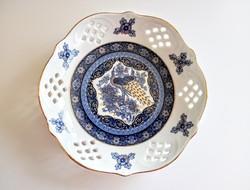 Kínai Kék-arany pávás tálka