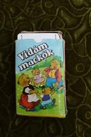 Vidám mackók kártya játék társasjáték eredeti doboz használt , részben hiányos állapotban