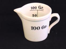Zsolnay patikai mérőedény,mércés pohár
