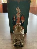 Antik régi parfümös üveg dobozában Orosz