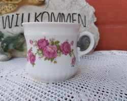 Ritkább formájú  Zsolnay  rózsás kicsi virágos csupor  bögre, nosztalgia darab, paraszti dekoráció