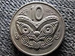 Új-Zéland II. Erzsébet maori maszk 10 Cent 1980 (id47247)