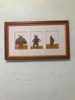 Für Emil (1967- ) Három darab giclée nyomtatású képeslap festményeiről galéria keretben paszpartuval