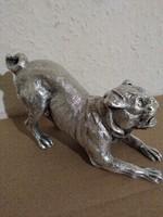 Ezüst (925 sterling) mops kutya (460gr.)