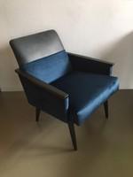 Retro felújított fotel párban  Bőr és bársony