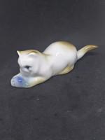 ZSOLNAY cica, macska, hibátlan, jelzett porcelán