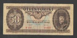 50 forint 1951.  F+!!  RITKA!!