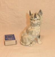 Német porcelán figura, macska, cica, számozott
