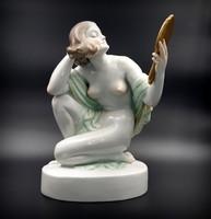 Herendi Nagyméretű , Fésülködő , Hiúság Szobra (38 cm)