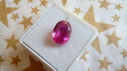 Természetes 5.35 karátos ovális pink zafír drágakő tanúsítvánnyal