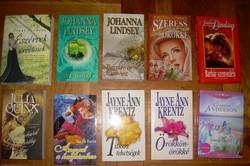 9 db romantikus regény, Julia Quinn, Johanna Lindsey, Catherine Anderson, Krentz...