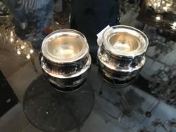 Ezüst asztali fűszertartó párban