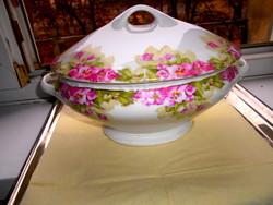 Valódi  tradicionális polgári darab - porcelán leveses  tál