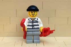 LEGO betörő , rabló figura eredeti szép állapotban