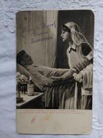 I. világháborús reklámlap, Lysoform fertőtlenítőszer, Krayer József Drogéria Temesvár bélyegzőjével