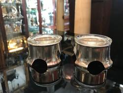 Ezüst art deco asztali fűszertartó párban