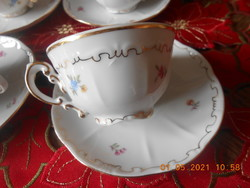 Zsolnay apró virág mintás kávés csésze