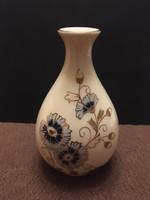 Zsolnay kézzel festett búzavirágos váza