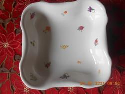 Zsolnay porcelán, antik köretes, salátás tál