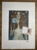 Gustav Klimt eredetigazolással- COA