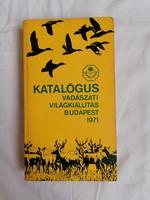 Vadászati kiállítás Budapest 1971 katalógus