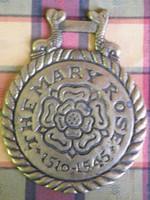 Régi réz lószerszám dísz - The Mary Rose 1510-1545 -