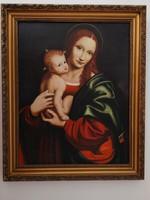 Giampietrino: Mária gyermekével. Olajfestmény vászonra, 65 x 51 cm. Másolat.