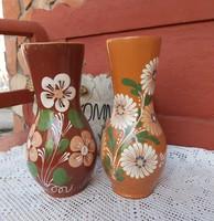 Virágos Sárospataki kerámia szilke köcsög váza  nosztalgia paraszti  falusi dekoráció