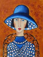 B.Tóth Irisz--GEORGINA- festmény MODERN
