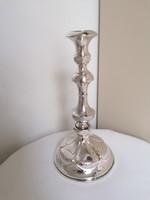 Klasszikus, szép formájú ezüst gyertyatartó