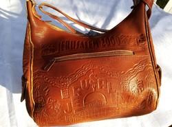 Bőr táska Jerusáleből .